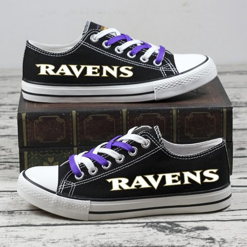 Christmas Design Baltimore Ravens Limited Low Top Canvas Sneakers