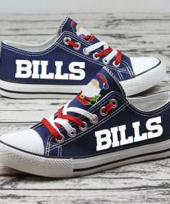 Christmas Design Buffalo Bills Limited Low Top Canvas Sneakers