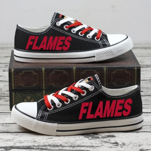 Christmas Calgary Flames Limited Fans Low Top Canvas Sneakers