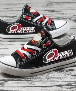 Christmas Carolina Hurricanes Limited Low Top Canvas Sneakers