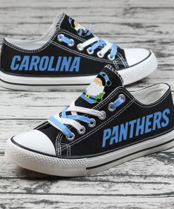 Christmas Carolina Panthers Limited Fans Low Top Canvas Sneakers