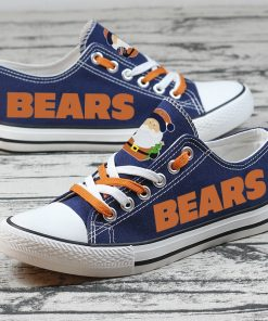 Christmas Chicago Bears Limited Low Top Canvas Sneakers