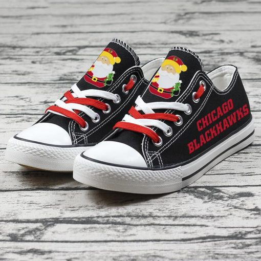 Christmas Chicago Blackhawks Limited Low Top Canvas Sneakers