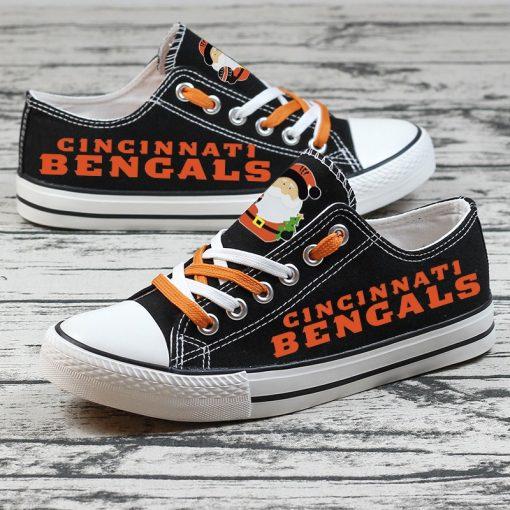 Christmas Cincinnati Bengals Limited Low Top Canvas Sneakers