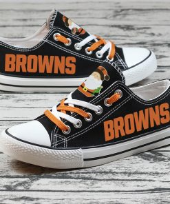 Christmas Cleveland Browns Limited Low Top Canvas Sneakers