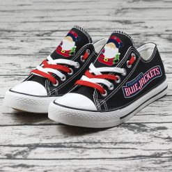 Christmas Columbus Blue Jackets Limited Low Top Canvas Shoes Sport