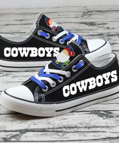 Christmas Dallas Cowboys Limited Low Top Canvas Sneakers