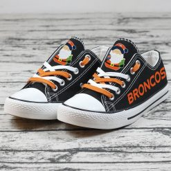 Christmas Denver Broncos Limited Low Top Canvas Sneakers