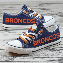 Christmas Broncos Limited Low Top Canvas Sneakers