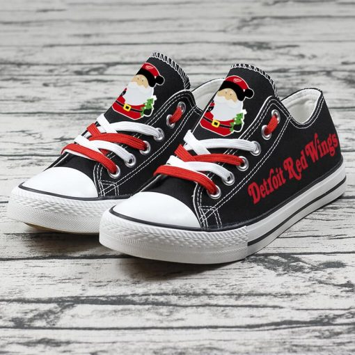Christmas Detroit Red Wings Low Top Canvas  Sneakers