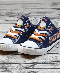 Christmas Edmonton Oilers Limited Low Top Canvas Sneakers
