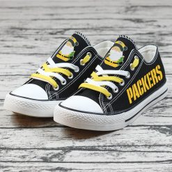 Christmas Green Bay Packers Limited Low Top Canvas Sneakers