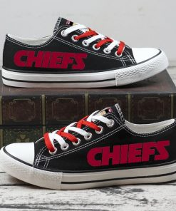 Christmas Kansas City Chiefs Limited Low Top Canvas Sneakers