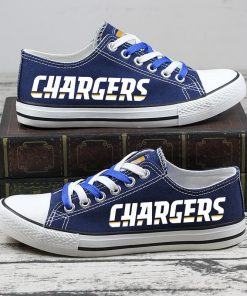 Christmas Design Los Angeles Chargers Limited Low Top Canvas Sneakers