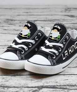 Christmas Los Angeles Kings Limited Print Low Top Canvas Sneakers