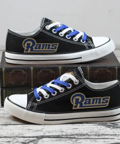 Christmas Los Angeles Rams Limited Low Top Canvas Sneakers