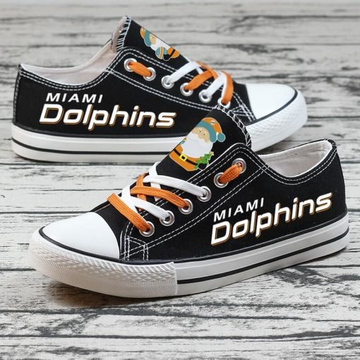 Christmas Miami Dolphins Limited Fans Low Top Canvas Sneakers