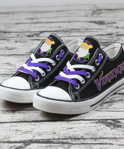 Christmas Minnesota Vikings Limited Low Top Canvas Sneakers