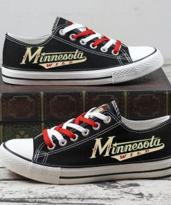 Christmas Minnesota Wild Limited Low Top Canvas Sneakers