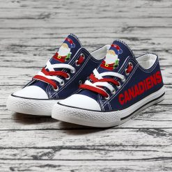 Christmas Montreal Canadiens Limited Hockey Fans Low Top Canvas Sneakers