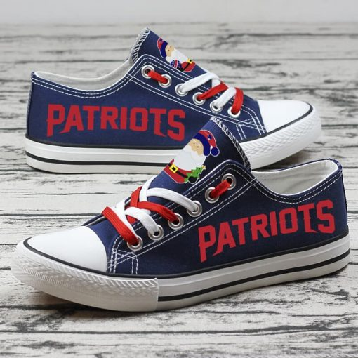 Christmas New England Patriots Limited Low Top Canvas Sneakers
