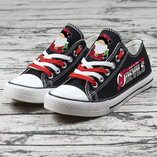 Christmas New Jersey Devils Limited Low Top Canvas Sneakers