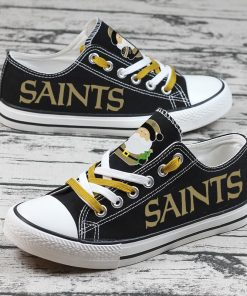 Christmas Design New Orleans Saints Fans Low Top Canvas Sneakers