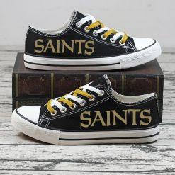 Christmas Design New Orleans Saints Fans Low Top Canvas Sneakers