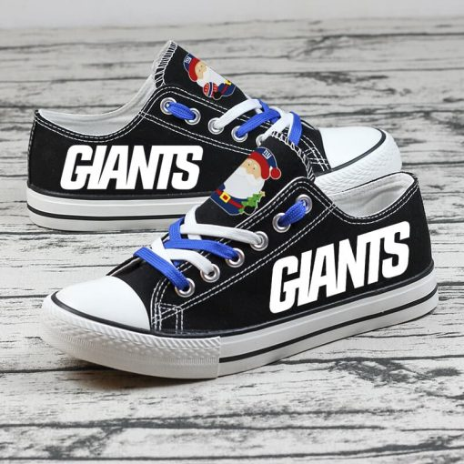 Christmas New York Giants Limited Low Top Canvas Sneakers