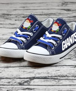 Christmas Design New York Giants Limited Fans Low Top Canvas Sneakers