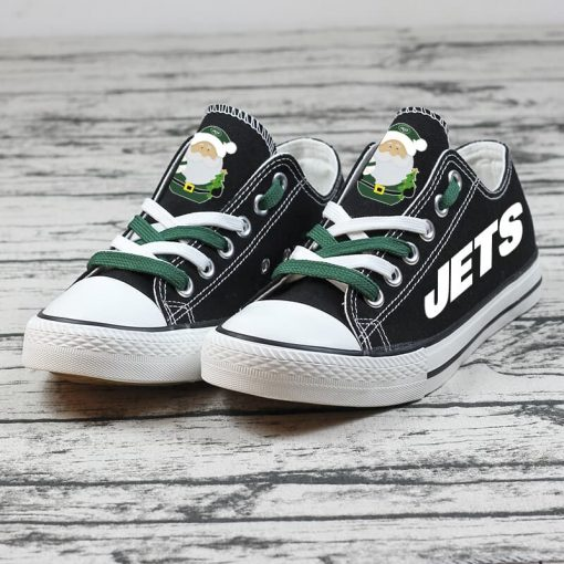 Christmas New York Jets Limited Low Top Canvas Sneakers
