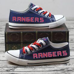 Christmas New York Rangers Limited Low Top Canvas Sneakers