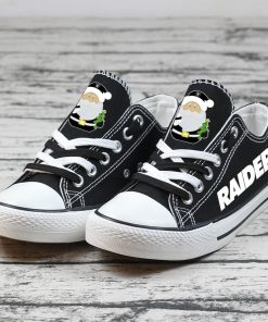 Christmas Oakland Raiders Limited Low Top Canvas Sneakers
