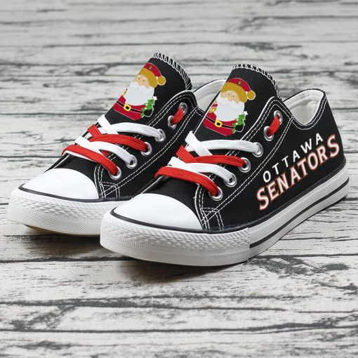 Christmas Ottawa Senators Limited Low Top Canvas Sneakers