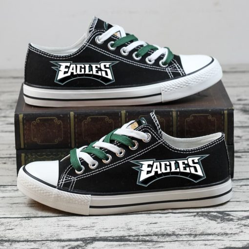 Christmas Philadelphia Eagles Limited Low Top Canvas Sneakers