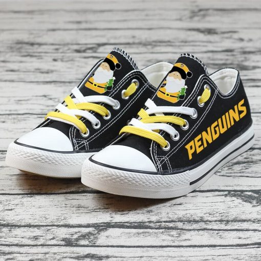 Christmas Pittsburgh Penguins Limited Low Top Canvas Sneakers