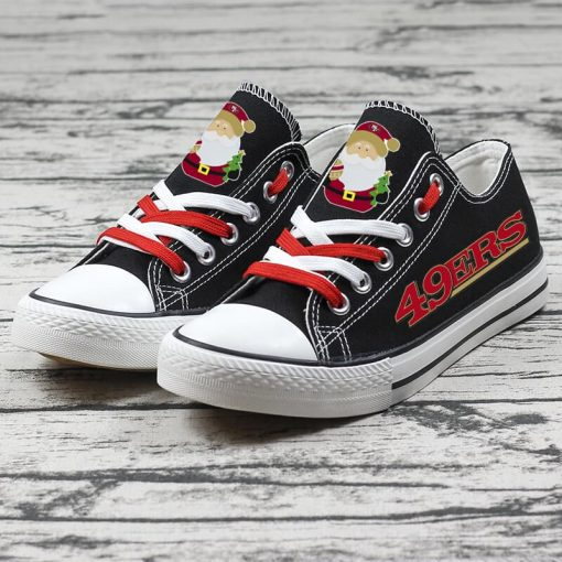 Christmas San Francisco 49ers Limited Low Top Canvas Sneakers