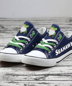 Christmas Seattle Seahawks Limited Low Top Canvas Sneakers