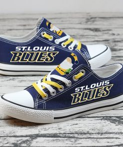 Christmas St. Louis Blues Limited Low Top Canvas Sneakers
