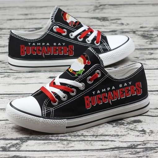 Christmas Tampa Bay Buccaneers Limited Print Low Top Canvas Sneakers