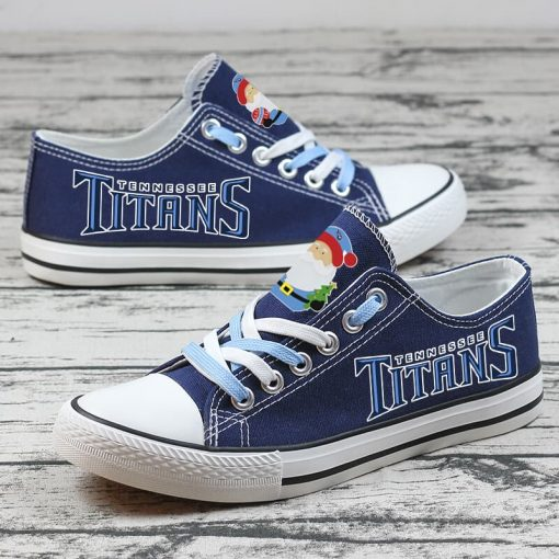 Christmas Tennessee Titans Low Top Canvas Sneakers