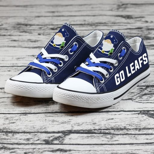 Christmas Toronto Maple Leafs Limited Low Top Canvas Shoes Sport