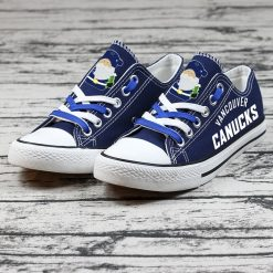 Christmas Vancouver Canucks Limited Low Top Canvas Sneakers