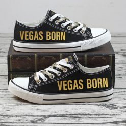 Christmas Vegas Golden Knights Limited Low Top Canvas Sneakers