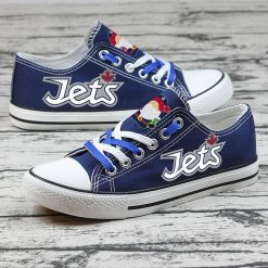 Christmas Winnipeg Jets Limited Low Top Canvas Sneakers