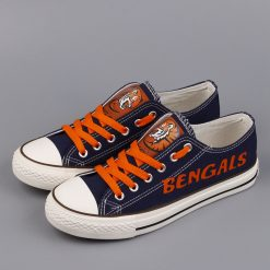 Cincinnati Bengals Limited Print Low Top Canvas Sneakers