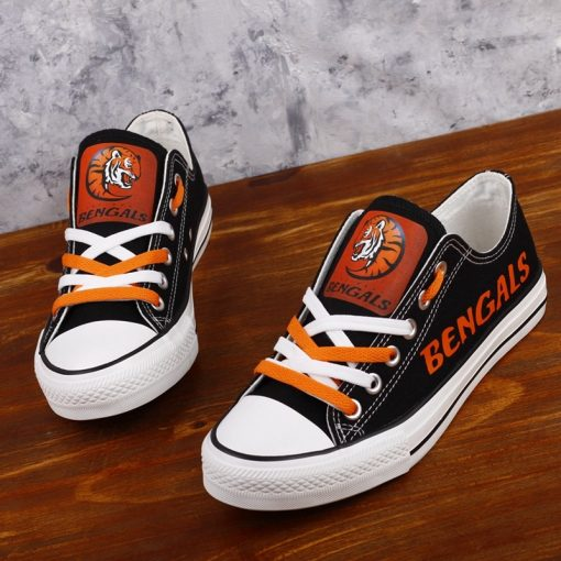 Cincinnati Bengals Low Top Canvas Shoes Sport