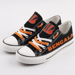 Cincinnati Bengals Limited Fans Low Top Canvas Shoes Sport