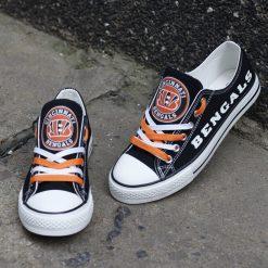 Cincinnati Bengals Luminous Low Top Canvas Sneakers