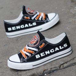 Cincinnati Bengals Luminous Low Top Canvas Sneakers